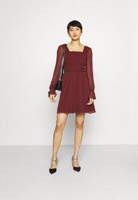 Trendyol - SIYAH - Cocktail dress / Party dress - burgundy - 1