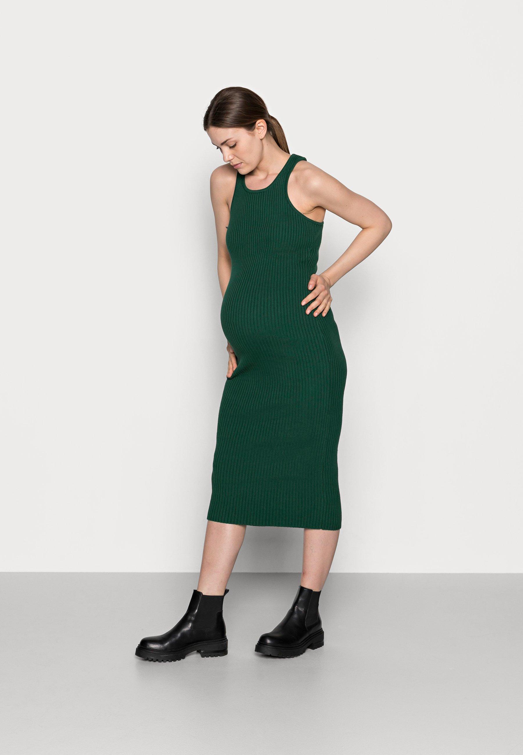 Women RACERBACK MIDI DRESSES WITH ROUND NECKLINE - Jersey dress