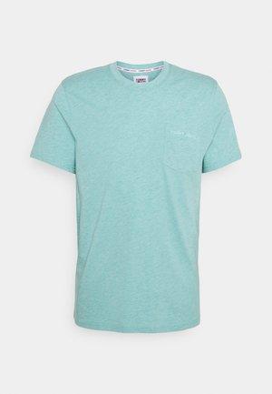 SMALL LOGO POCKET TEE - T-shirt basique - blue