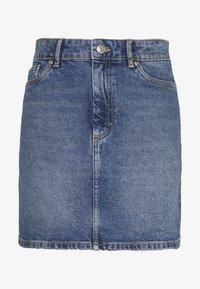 ONLROSE LIFE ASHAPE SKIRT - Denim skirt - medium blue denim