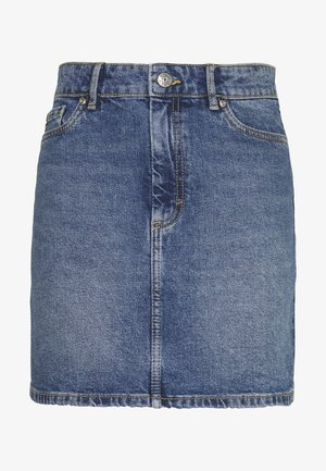 ONLROSE LIFE ASHAPE SKIRT - Denim skirt - medium blue denim