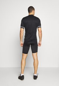 ODLO - STAND UP COLLAR ZIP ESSENTIAL - T-Shirt print - black - 2