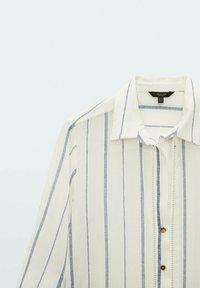 Massimo Dutti - STREIFEN - Maxi dress - white - 4