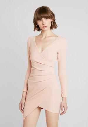 Sukienka koktajlowa - nude