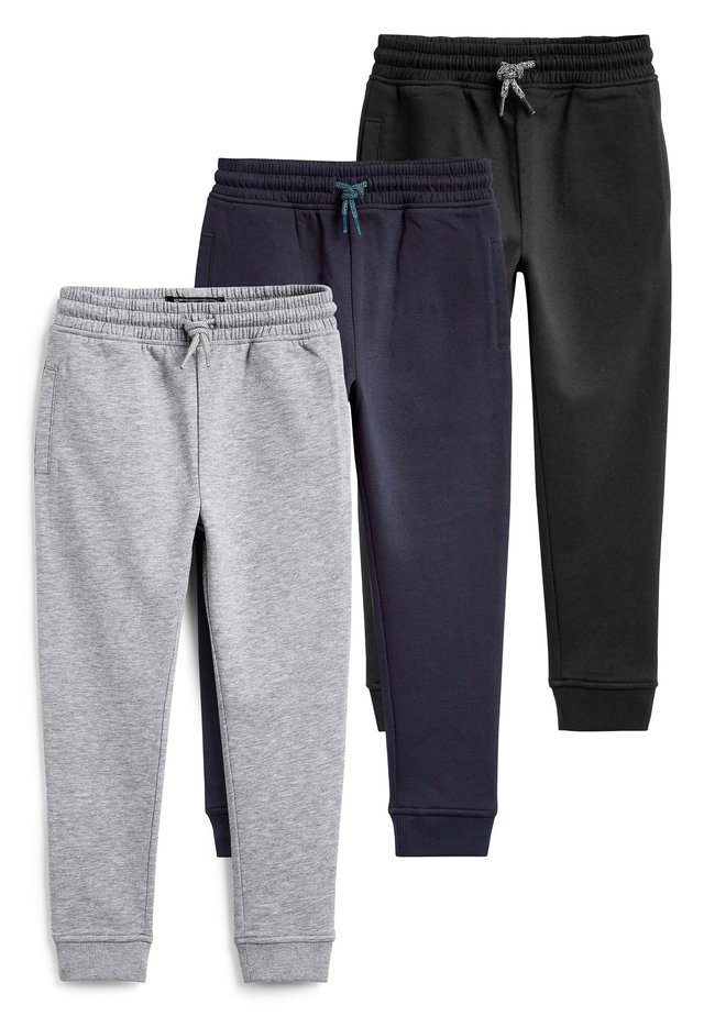 MULTI BLACK SKINNY FIT 3 PACK JOGGERS (3-16YRS) - Spodnie treningowe - blue