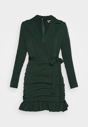 RUCHED FRILL HEM - Vestido de cóctel - dark green