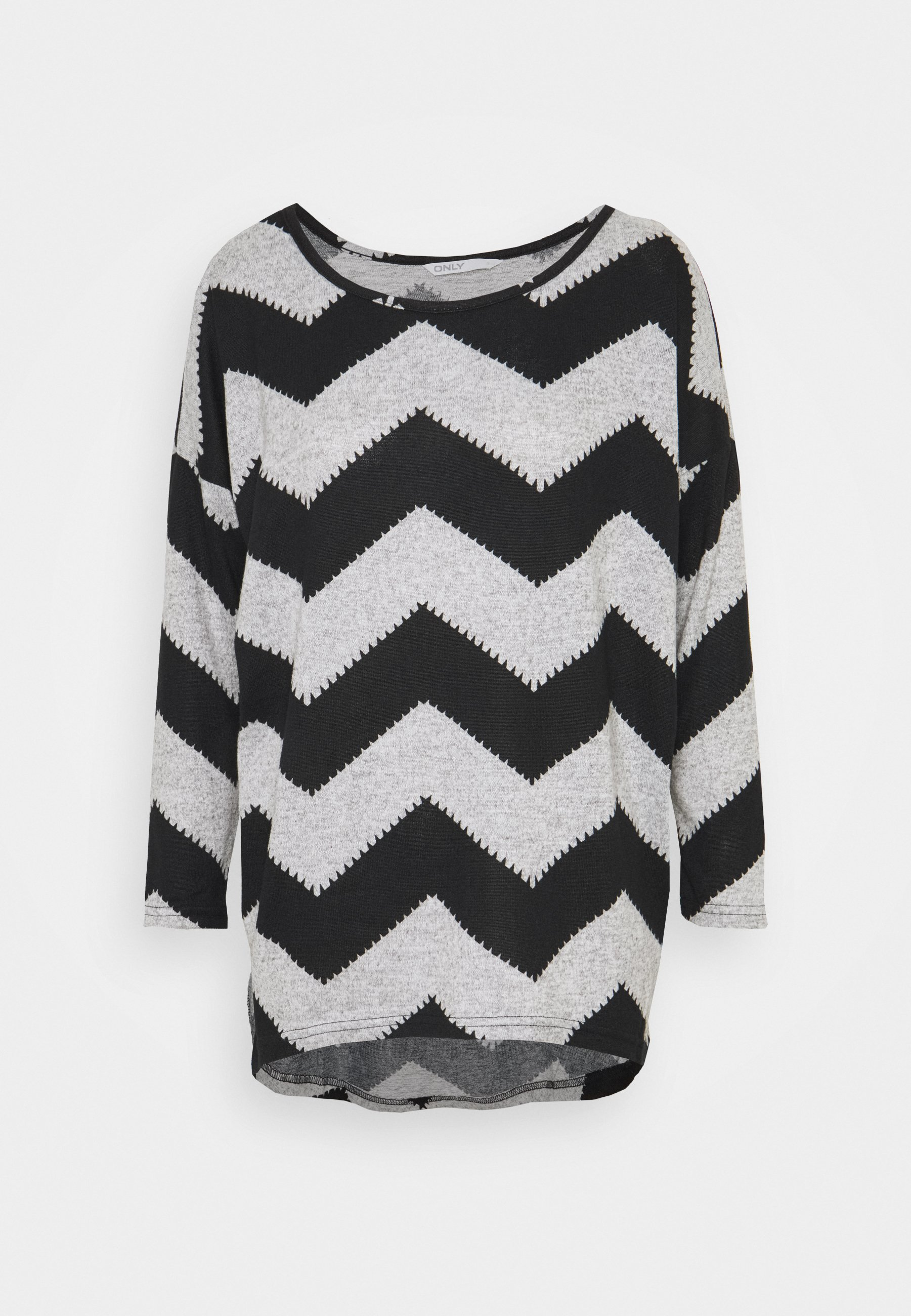 Damen ONLELCOS - Strickpullover - light grey melange/black