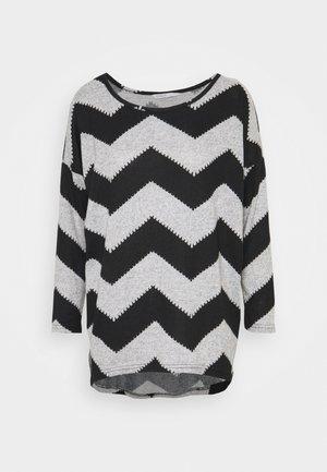 ONLELCOS - Jersey de punto - light grey melange/black