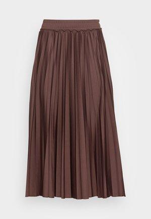 A-lijn rok - rust brown