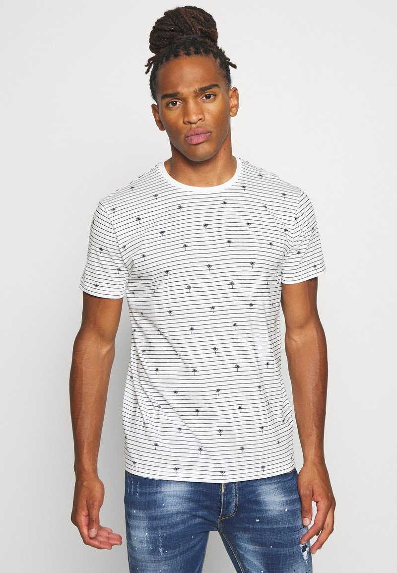 edc by Esprit - PALM - Print T-shirt - offwhite