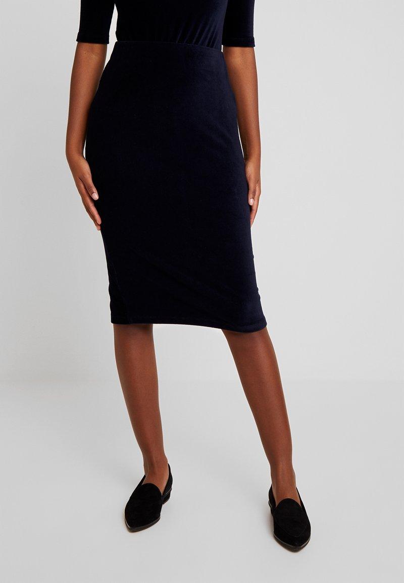EDITED - SOPHIE SKIRT - Pouzdrová sukně - navy