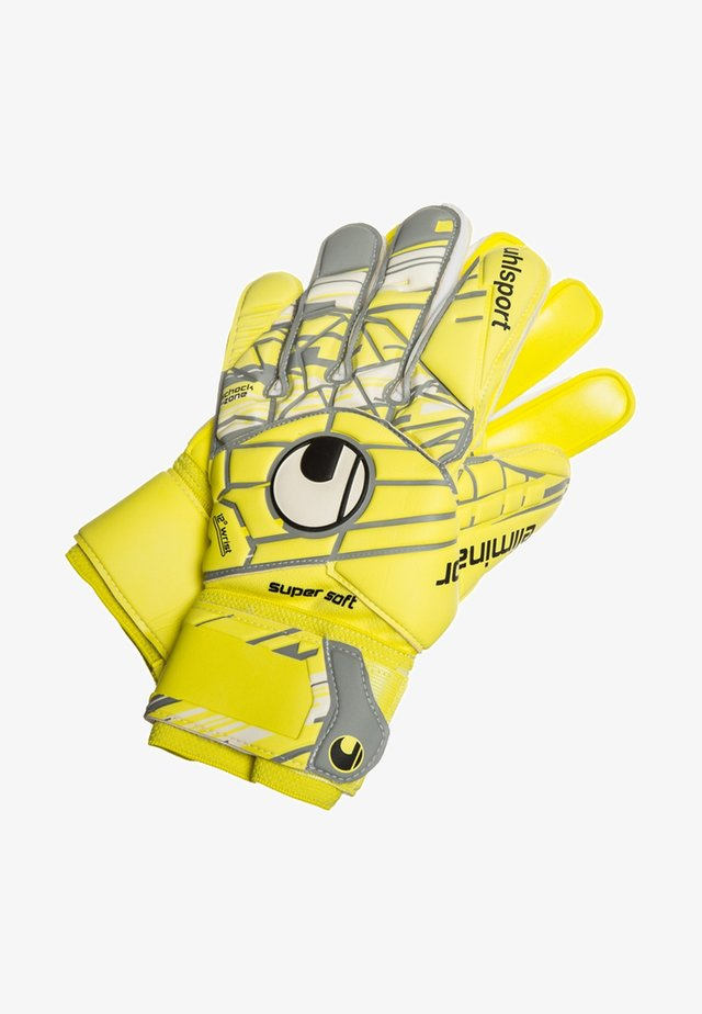 ELIMINATOR SUPERSOFT  - Rękawice bramkarskie - fluo yellow/griffin grey