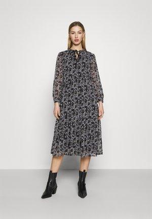 VMFILIA TIE CALF DRESS - Day dress - black