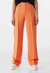 Bershka - Pantalon classique - orange - 0