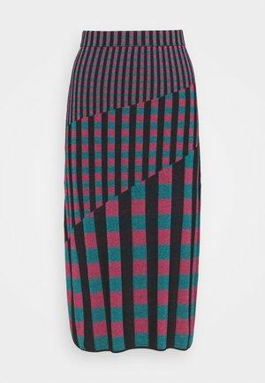 SKIRT - Pouzdrová sukně - grape/purple/green