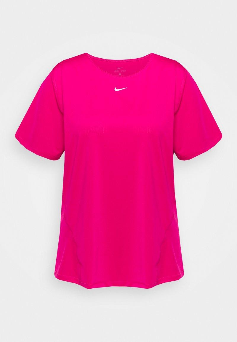 Nike Performance - ALL OVER PLUS - Basic T-shirt - fireberry/white