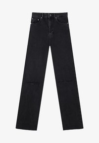 Stradivarius - Straight leg jeans - black - 4