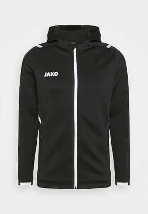 CHALLENGE MIT KAPUZE - Training jacket - schwarz/weiß