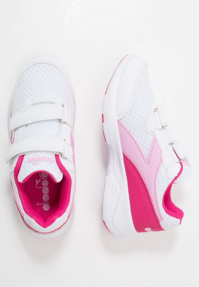 Diadora - EAGLE 3  - Neutral running shoes - white/beetroot pink