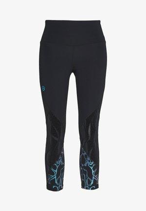 UA RUSH VENT IRIDESCENT GRAPHIC CROP - Legging - black/halo gray/black