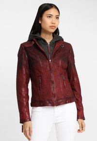 Gipsy - CASCHA LAMOV - Leather jacket - ox red - 0