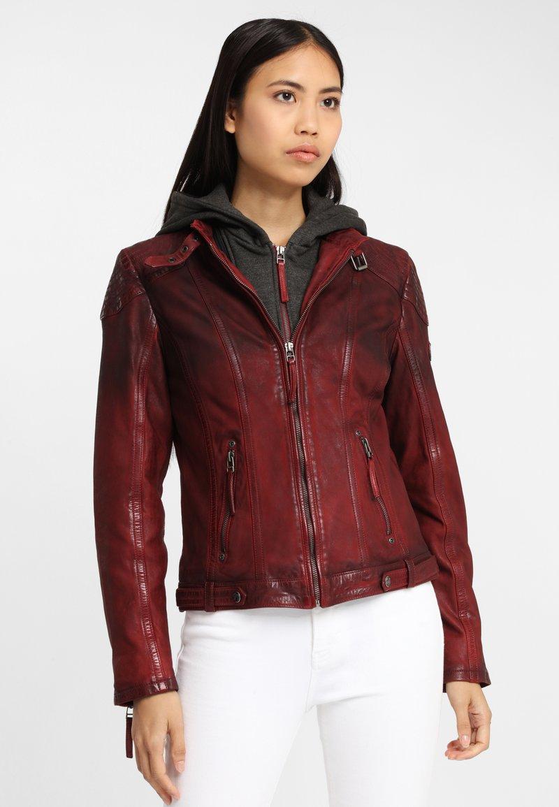 Gipsy - CASCHA LAMOV - Leather jacket - ox red