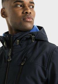camel active - MIT STEHKRAGEN UND KAPUZE - Summer jacket - navy - 4