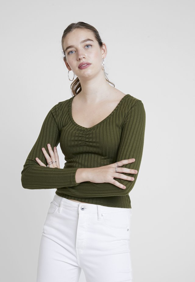 BINDI LONG SLEEVE - Top s dlouhým rukávem - winter moss