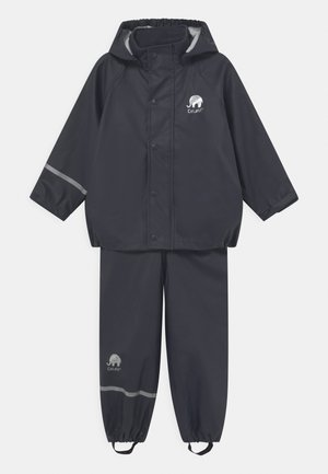 BASIC RAINWEAR SOLID SET UNISEX - Waterproof jacket - dark navy