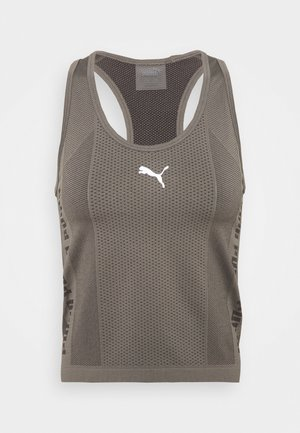 EVOKNIT SEAMLESS TANK - Topper - charcoal grey