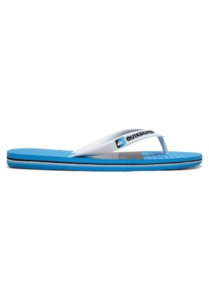 MOLOKAI WORD BLOCK - SANDALEN FÜR MÄNNER AQYL100986 - Pool shoes - white/grey/blue
