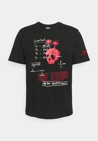Diesel - T-JUST-B61 UNISEX - Print T-shirt - black - 0