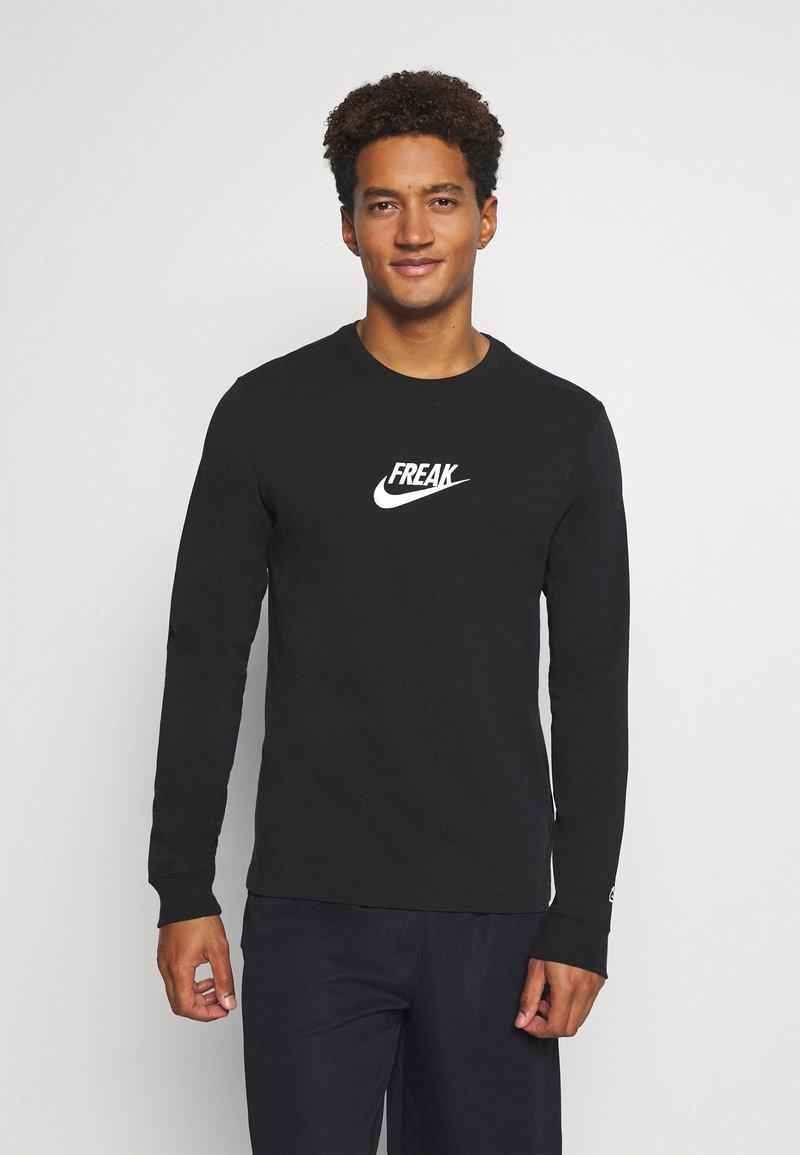 Nike Performance - TEE FREAK LONG SLEEVE - Long sleeved top - black