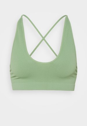 WHATS THE SCOOP BRALETTE - Top - cool moss