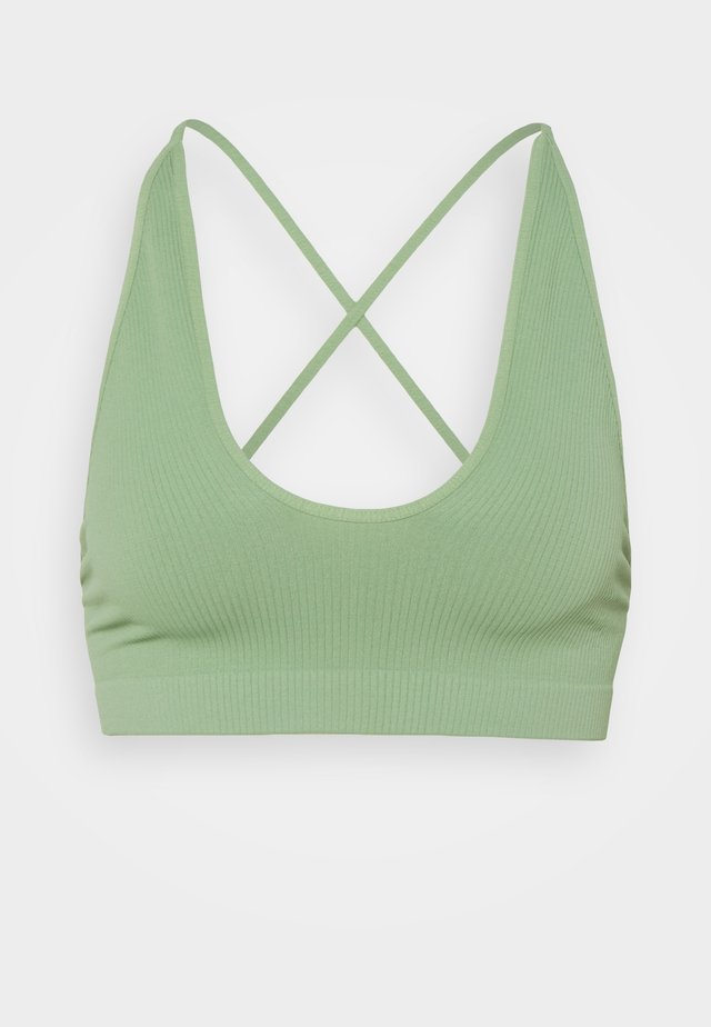 WHATS THE SCOOP BRALETTE - Bustino - cool moss