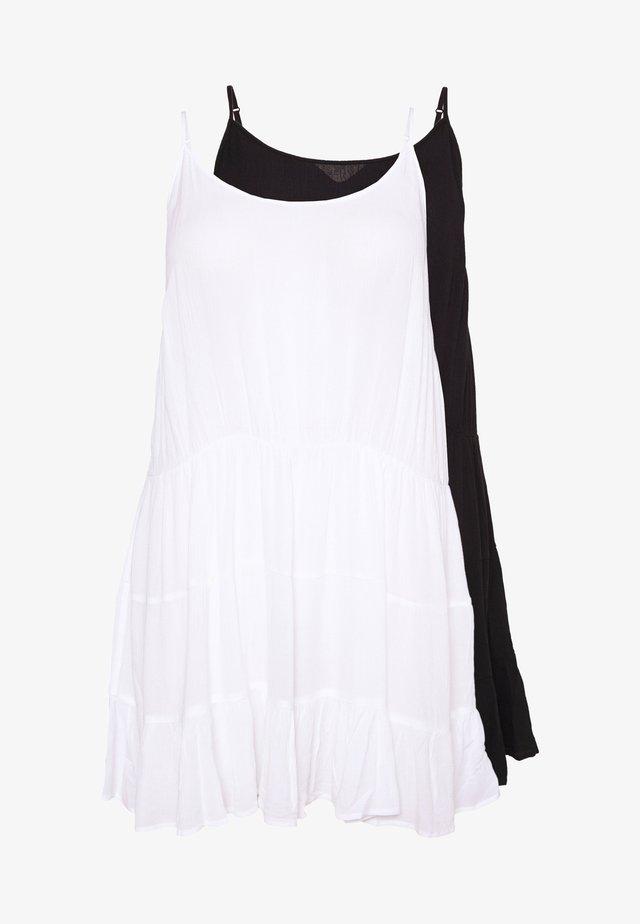 VALUE BEACH DRESSES  2 PACK  - Strandaccessoire - white/black