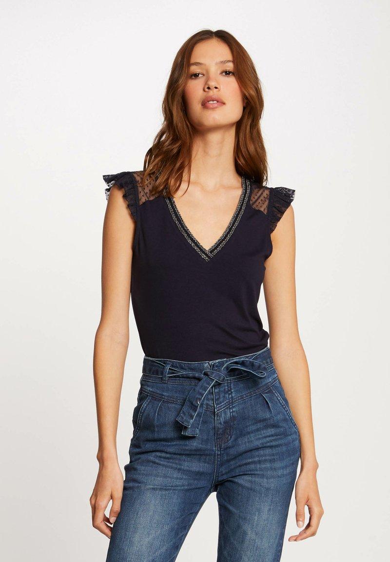 Morgan - Print T-shirt - dark blue