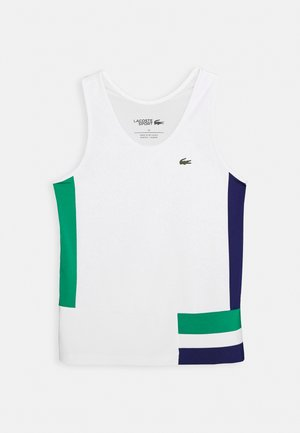 TENNIS TANK - T-shirt de sport - white/cosmic greenfinch/black