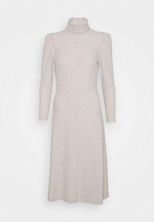 ONLNELLA ROLL NECK DRESS - Strikket kjole - pumice stone melange