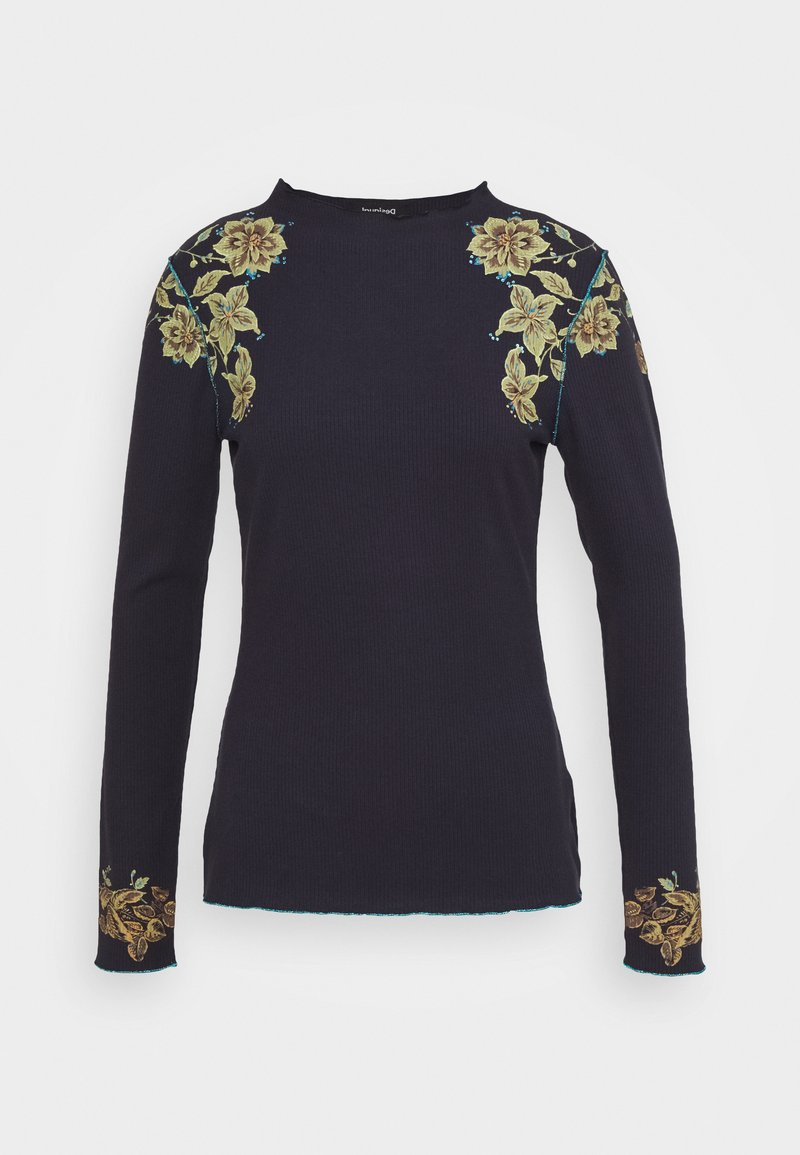 Desigual - TOLOUSE - Long sleeved top - navy
