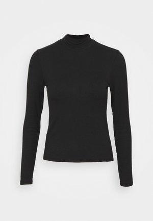 LONGSLEEVE SLIM MOCKNECK TEE - Long sleeved top - black