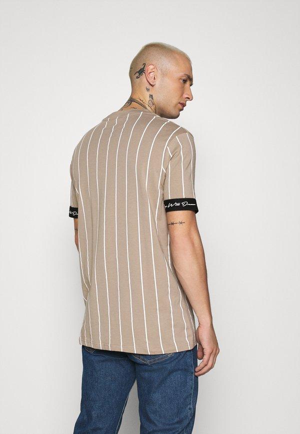 Kings Will Dream CLIFTON - T-shirt z nadrukiem - light brown/white/jasnobrązowy Odzież Męska QGXQ