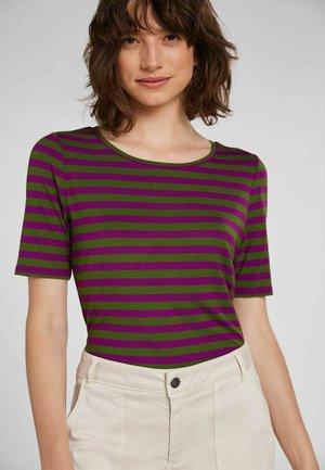 Print T-shirt - lilac green