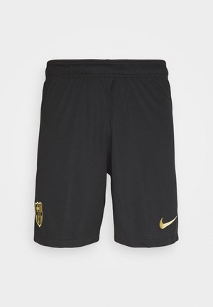 FC BARCELONA SHORT HA - Short de sport - black/metallic gold