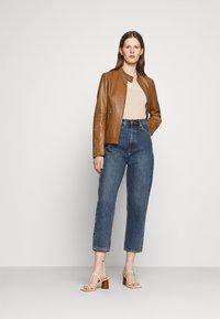 HUGO - LISAKA - Leather jacket - rust/copper - 1
