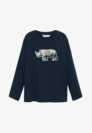 ANIMAL - Long sleeved top - blu marino scuro