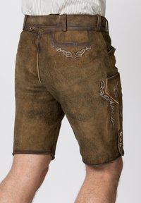 Stockerpoint - HANS - Leather trousers - havana - 5