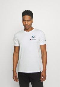Puma - SMALL LOGO TEE - Print T-shirt - white - 0