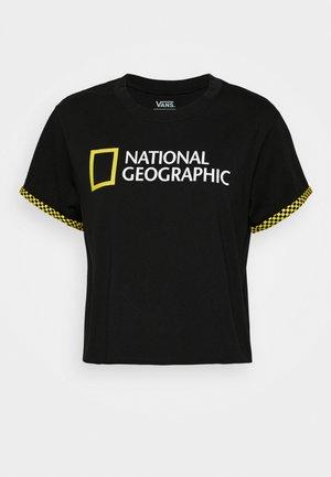 NAT GEO ROLLOUT - T-shirts med print - black