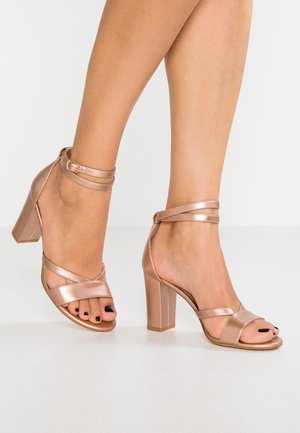 LEATHER - Sandales - rose gold